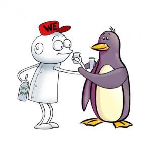 Как подружиться с пингвином в гугле?